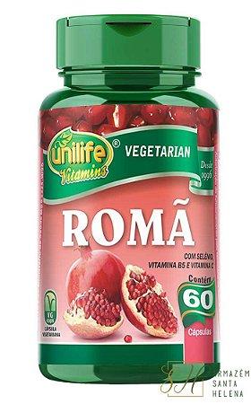 ROMÃ COM VITAMINAS 500MG 60 CÁPSULAS - UNILIFE