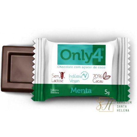 CHOCOLATE MENTA 70% DE CACAU 5G - ONLY4