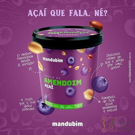 PASTA DE AMENDOIM COM AÇAÍ 450G - MANDUBIM