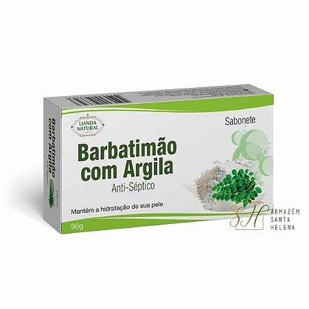SABONETE NATURAL ANTISSÉPTICO DE BARBATIMÃO COM ARGILA 90G - LIANDA NATURAL