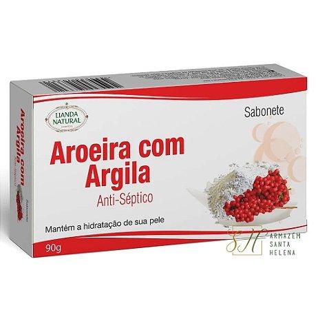SABONETE NATURAL ANTISSÉPTICO DE AROEIRA COM ARGILA 90G - LIANDA NATURAL