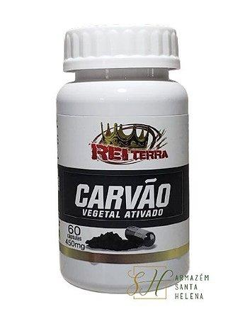 CARVÃO VEGETAL ATIVADO 450MG 60 CÁPSULAS - REI TERRA