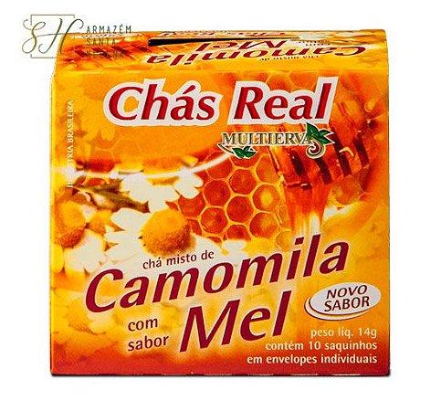 CHÁ DE CAMOMILA E MEL 10 SACHÊS - REAL MULTIERVAS