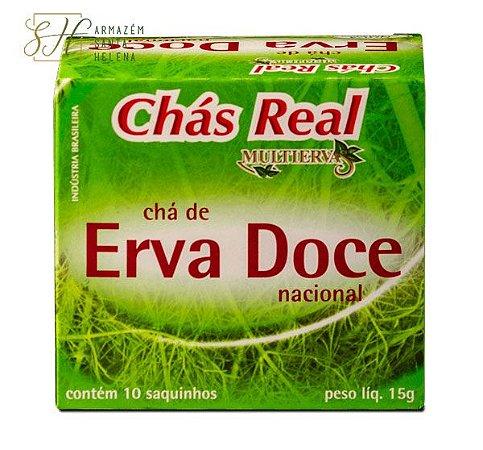 CHÁ DE ERVA DOCE 10 SACHÊS - REAL MULTIERVAS