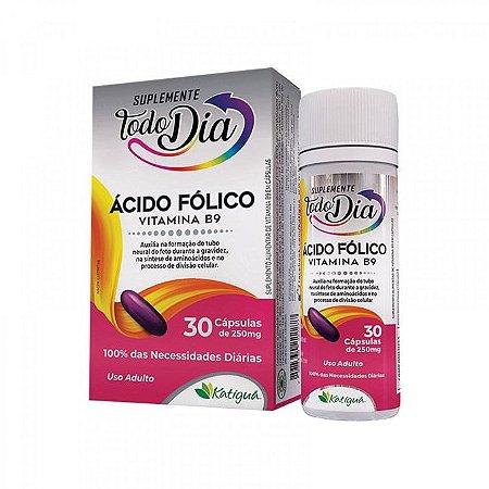 ÁCIDO FÓLICO VITAMINA B9 STD 250MG 30 CÁPSULAS - KATIGUÁ