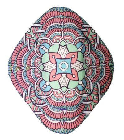 Ecoabsorvente Mandalas Rosa e Azul claro