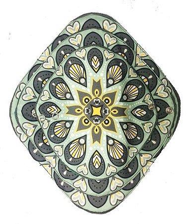 Ecoabsorvente Mandalas Verde Pétalas