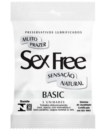 Preservativo Lubrificado Sensação Natural 3 unidades