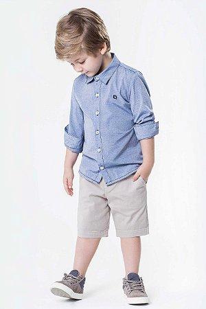 776a143f0 Camisa infantil menino com Manga Longa em tricoline maquinetado ...