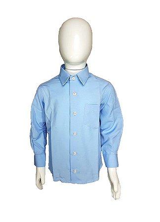 Camisa Social infantil menino com manga longa Azul clara - Boyhood ... d9e2159cea0