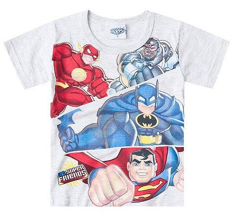 Camiseta Infantil Liga da Justiça mescla - Boyhood Roupas e ... 7154cd2d8d99f