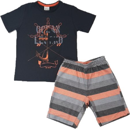Conjunto infantil camiseta algodão bermuda moletom - Boyhood Roupas ... c479155c7f73f