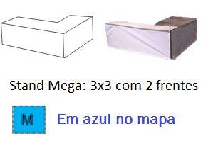 Stand Mega 3x3 com 2 frentes