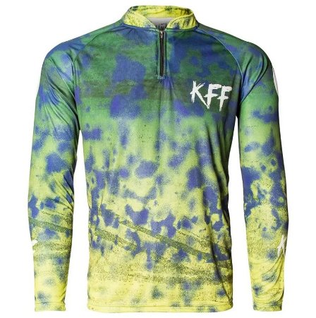 Camiseta Sublimada King Brasil Manga Longa - KFF31 - Rei do Rio Pesca 57710556a4619