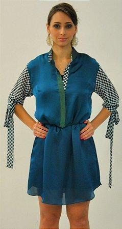 Vestido Camisa Silk Verde