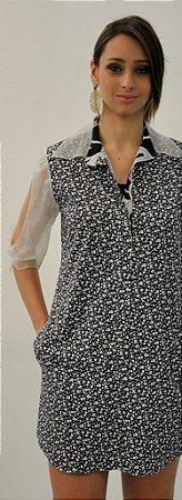 Vestido Camisa Tricoline Estampado
