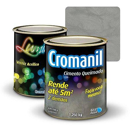 KIT Cimento Queimado 1/4 + Verniz Acrílico 900ml  - Cor TRADICIONAL