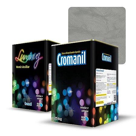 KIT Cimento Queimado Lata (25kg)  + 1 Verniz Lata 18 litros  - Cor TRADICIONAL