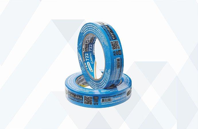 Fita Crepe Azul - 24mm x 50m