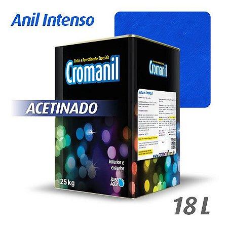 ANIL INTENSO - Cromanil Tinta Acrílica Acetinado Lata 18 litros
