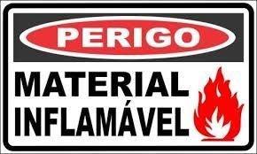 Placa Perigo Material Inflamável 20x30x0,80 Mm