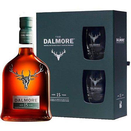 Kit Whisky The Dalmore 15 Anos - Single Malt - (Com 2 Copos e Embalagem Exclusiva) - 700ml