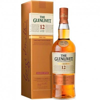 Whisky The Glenlivet 12 Anos First Fill - Single Malt - 700ml (Edição Exclusiva)