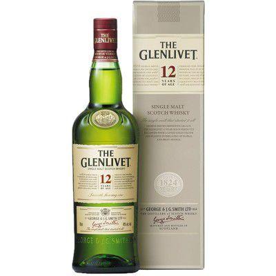 Whisky The Glenlivet 12 Anos - Single Malt - 1000ml