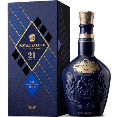 Whisky Chivas Royal Salute - The Sapphire - Azul - 21 Anos - 700ml (Nova Embalagem)