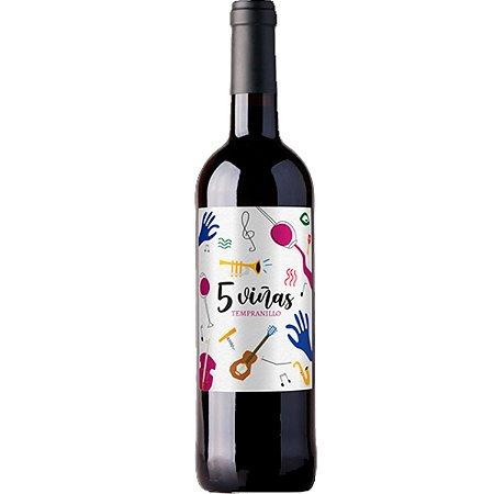 Vinho 5 Viñas Tempranillo - Tinto - 750ml
