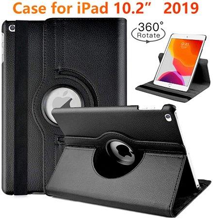 Capa Case Giratoria para Novo iPad 2019 De 7a Geração De 10.2
