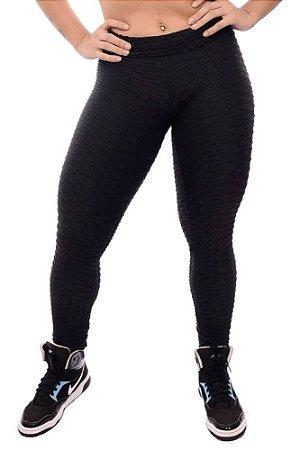 Calça Legging Suplex Bolha - Fitness - Disfarça Celulite - Textura Wave