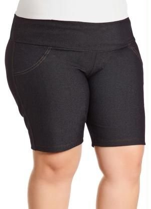 Bermuda Shorts  de cotton plus size Cottonlycra