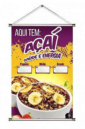 Banner de Açaí Tradicional com Banana - 60x90cm