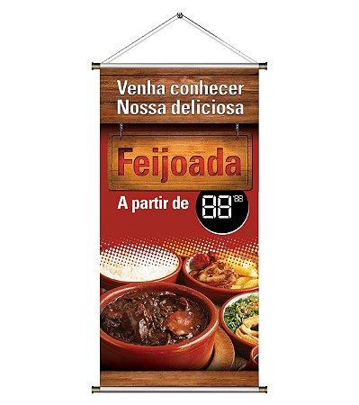 Banner  para Vender Feijoada - 60x120cm