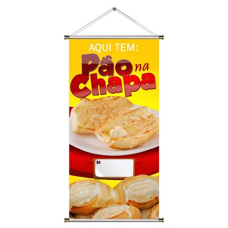 Banner de Pão ba Chapa com Foto - 50x100cm