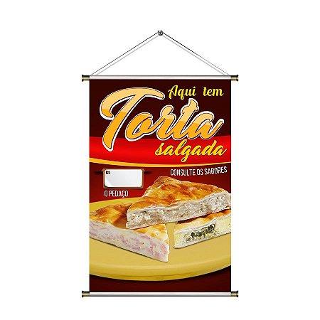 Banner para vender Torta Salgada - 60x90cm
