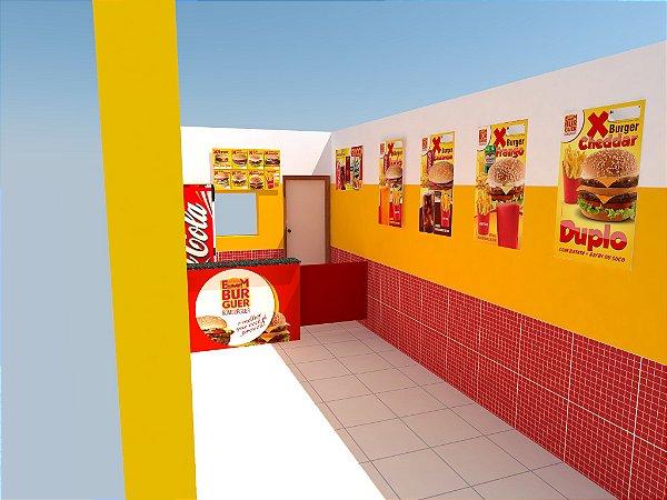 Comunicação Visual Completa para Loja de Hamburguer - Hamburgueria - Fast Food