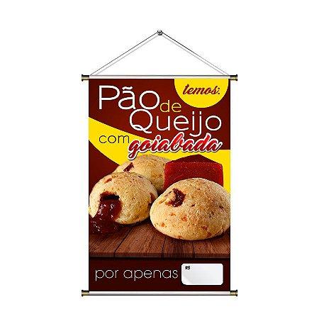 Banner para vender Pão de Queijo com Goiabada - 60x90cm