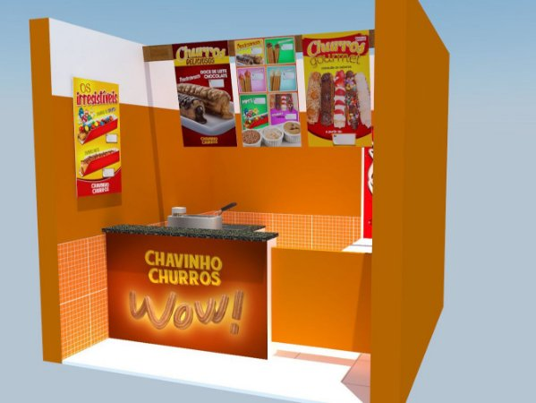 Comunicação Visual Completa para Loja de Churros - Churros Gourmet