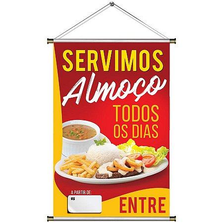 Banner de Almoço - 60x90cm