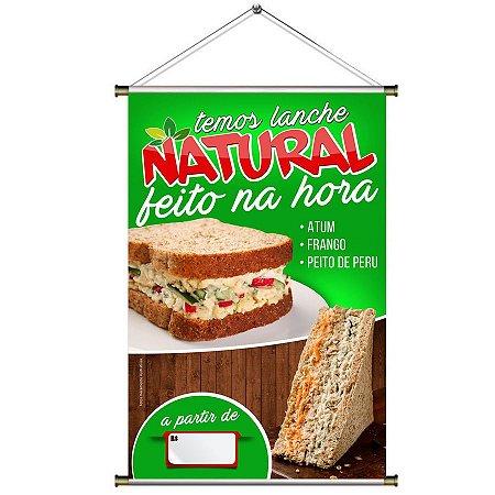 Banner de Lanche Natural Feito na Hora - 60x90cm