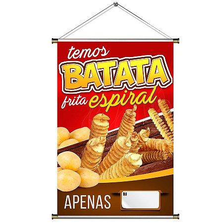 Banner para venda de Batata Frita Espiral - 60x90cm