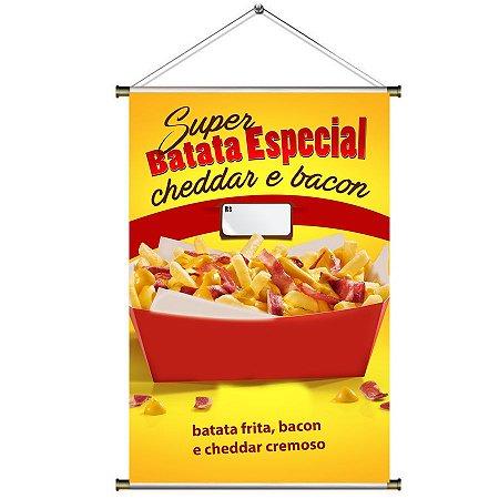 Banner de Super Batata Especial com Cheddar e Bacon - 60x90cm