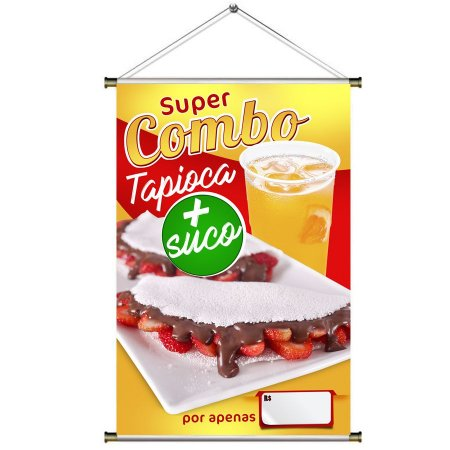 Banner de Tapioca e Suco - 60x90cm