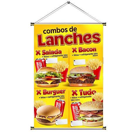 Banner para Vender Combos de Lanches - 60x90cm