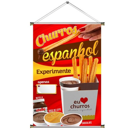 Banner de Churros Espanhol - 60x90cm