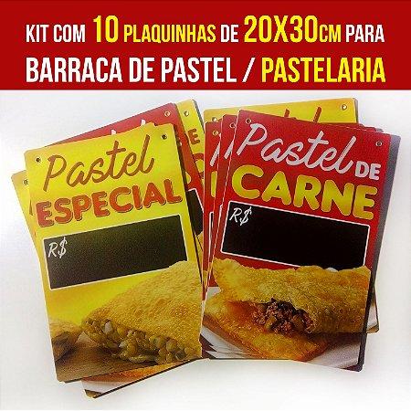 Kit com 10 placas de PS de 20x30cm - Sabores de Pastel