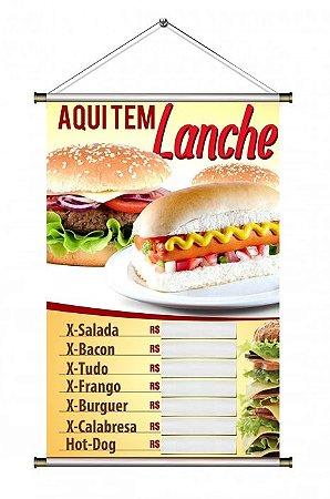 Banner de Lanches - 60x90cm