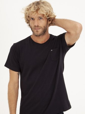 T-shirt Pocket Preto